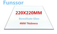 Funssor Borosilicate Glass Plate Bed 220mm X 220X4MM Flat Polished Edge For MK2 MK3 Reprap 3D