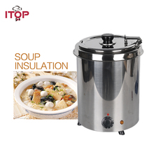Electric Water-bath Soup Warmer 110V 220V Stainless Steel Body 5.7L 10L Cafeteria Buffet Canteen Kitchen Use цена и фото