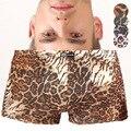Brand Men's Boxers Underwear Masculina Print Leopard Thin Ice Silk U Convex Pouch Shorts Cueca Sexy Men Underpants 20 Type M-XXL