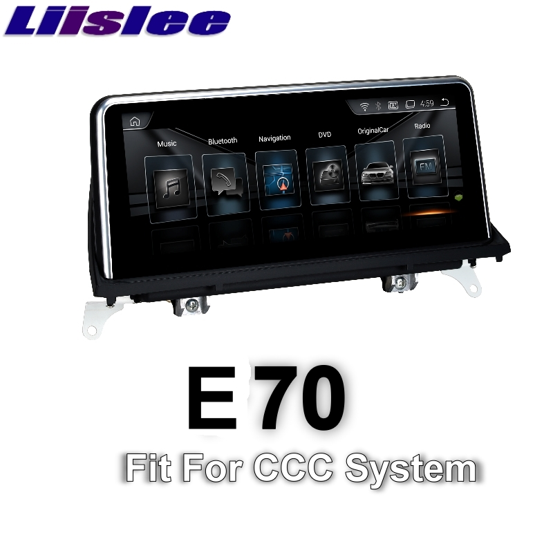 For BMW X5 E70 2006 2010 LiisLee font b Car b font Multimedia font b GPS