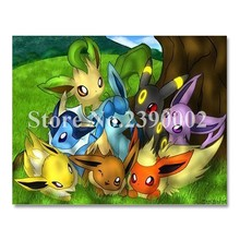 Full Rhinestone Painting Pokemon Posters DIY Diamond Painting Cartoon Pikachu Home Decor Cross Stitch Diamond Embroidery mosaic(China)