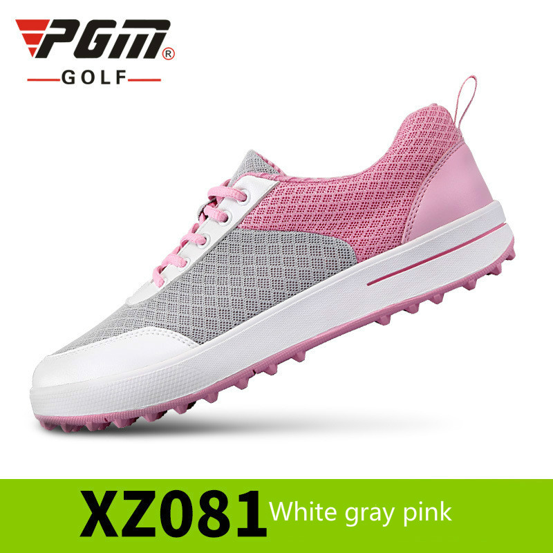 PGM Golf Shoes Women Ultra Light Breathable Mesh Women Sports Shoes No creases Girls Golf Shoes