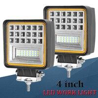 126w LED Work Light Bar Spot Flood Combo Work Light 12v 24v LED Beams Driving Offroad LED Light Bar For ATV 4WD 4x4 Tractor