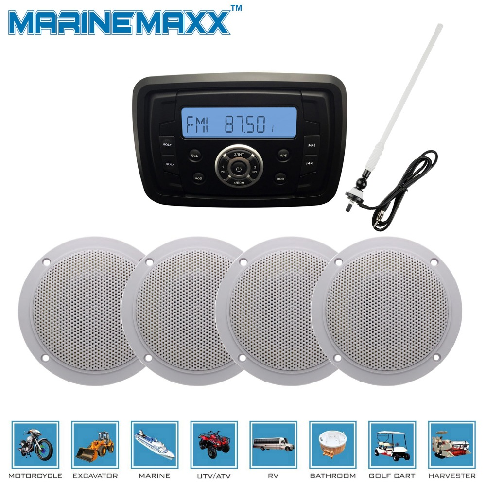 Yamaha Car Audio: Waterproof Marine Bluetooth Stereo Motorcycle Audio Radio