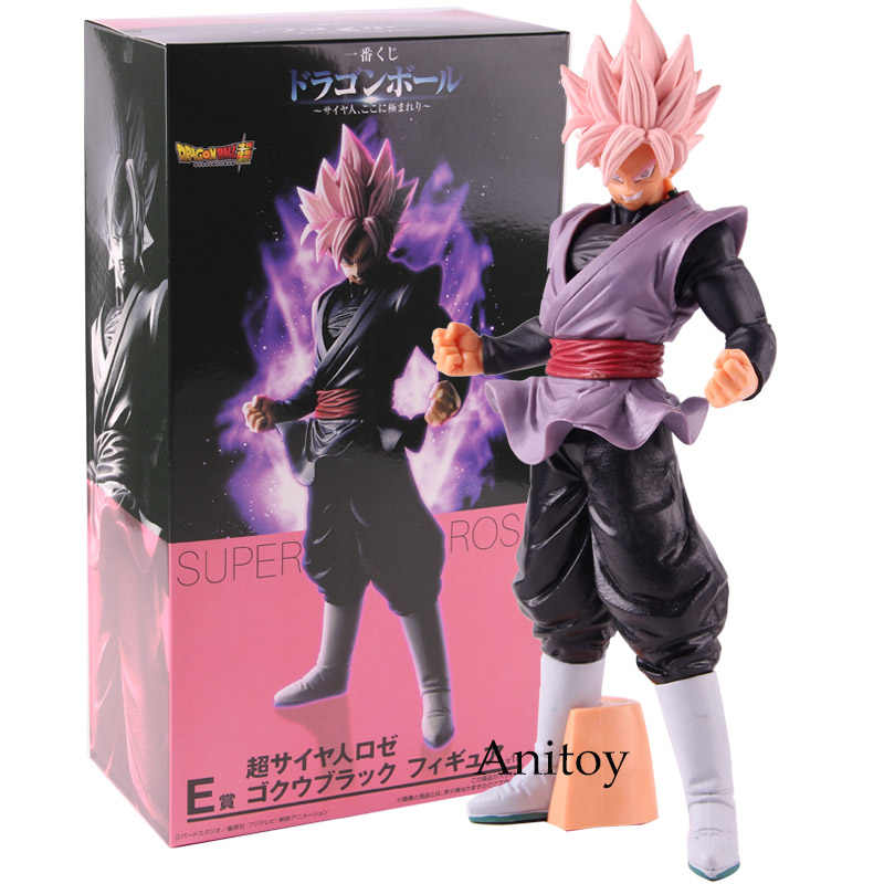 Dragon Ball Super Zamasu Ichiban Kuji Figura de Ação Goku Super Saiyan Rosa Preto PVC Collectible Toy Modelo