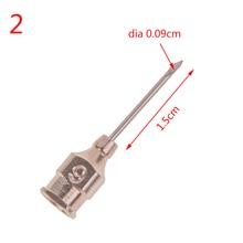 лучшая цена 10pcs New Arrival NO.2 Stainless Steel Syringe Dispensing Blunt Needle Tip Pin Adhesive Dia 0.09cm