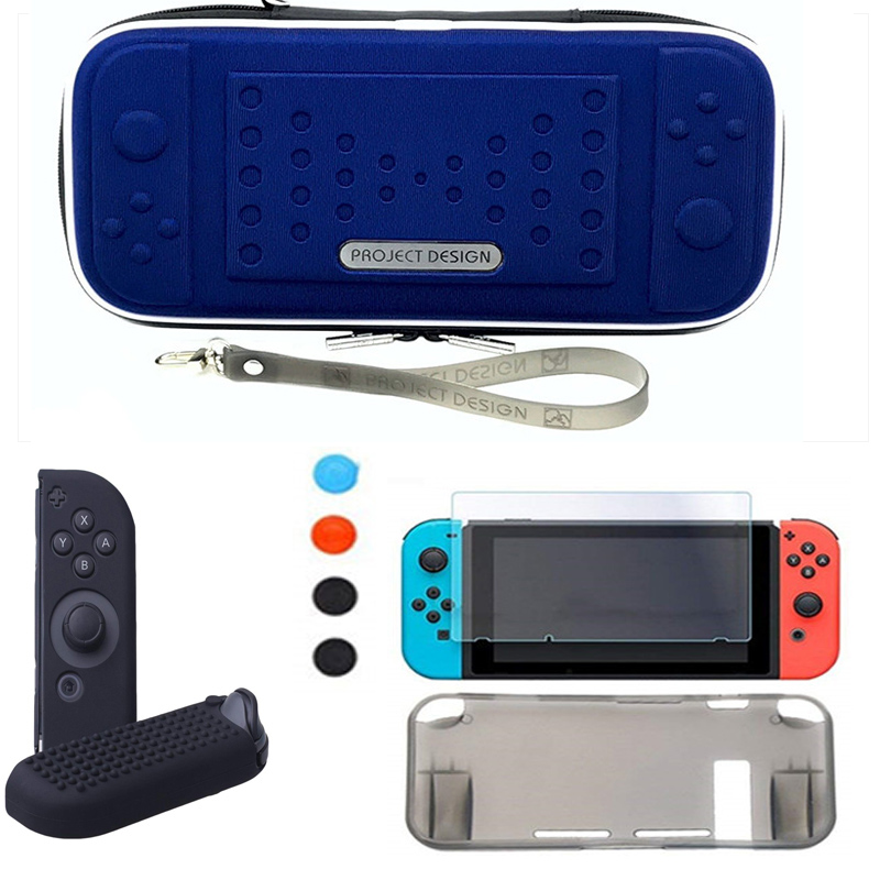 Hard Travel Protective Pouch Storage Bag Carrying Case For Nintendo Nintend Switch NS game Console & Screen Protector & Shell