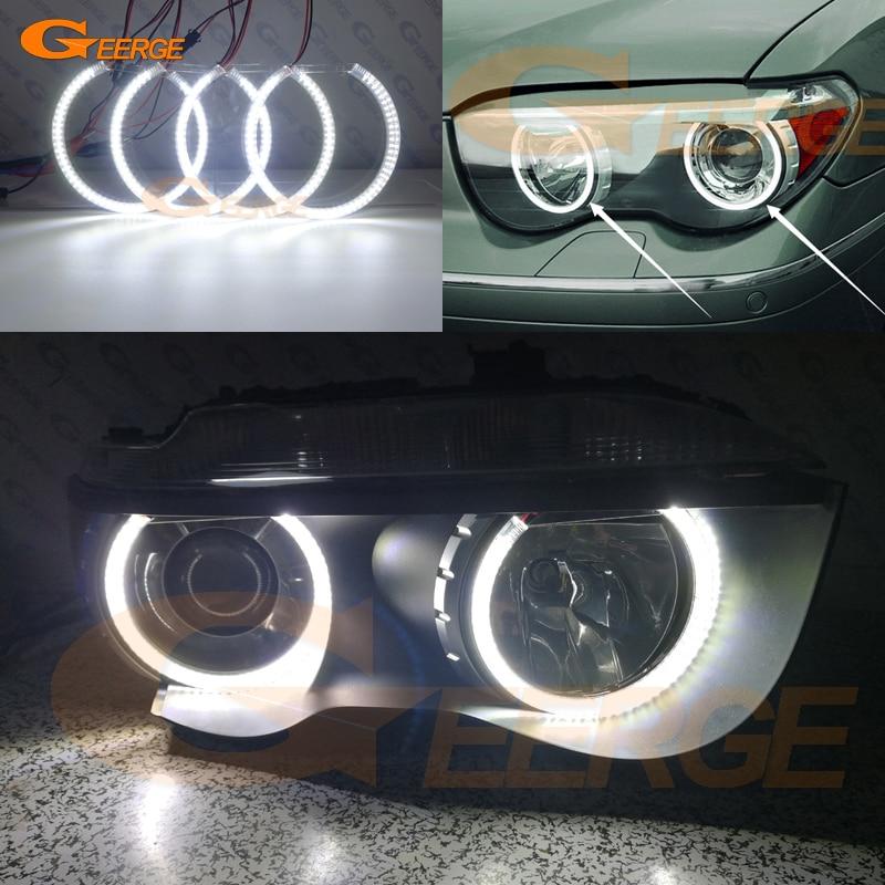 Для BMW E65 E66 745i 745Li 760Li 760i 2002-2005 фар отличное Ультра яркое освещение smd led angel комплект глаза