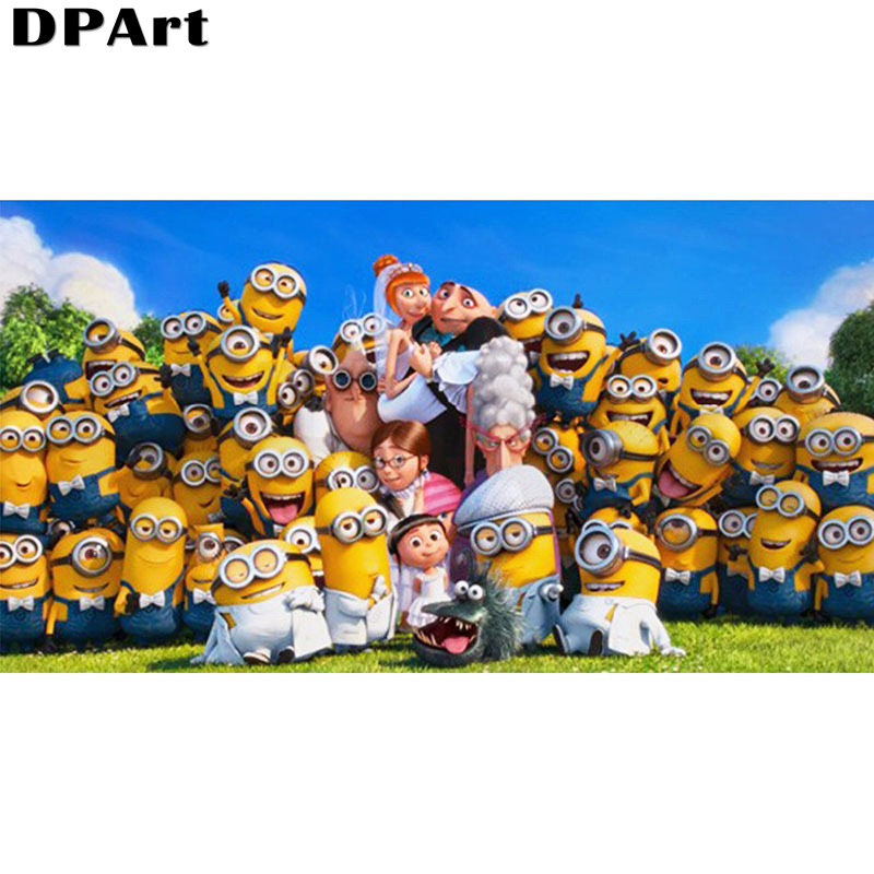 Diamond Painting Full Square/Round Drill Minions Family Photo 5D Daimond Embroidery Painting Cross Stitch Kit Rhinestone Y011