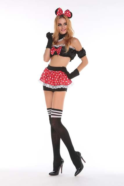 b6602d40539fd0 US $16.62 15% OFF|Sexy minni mouse costume halloween cosplay fancy love  live cosplay anime mujer sexy dress women adult dress adult miki mouse on  ...