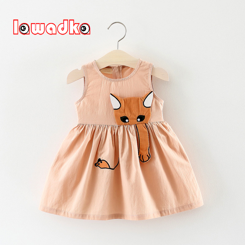 Lawadka Kid Girls Dress Summer Children Clothing Sleeveless Cat catch Mouse Kids Dresses For Girls Princess Birthday Clothes ruffled girls dresses summer 2017 new backless children dresses cotton sleeveless kids dress for girls clothes toddlers clothing