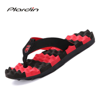 Plardin 2018 Fashion Energetic Striped Flip Flop Soft Sole Comfortable Breathable Massage Sole Slippers Casual Outdoor Shoes