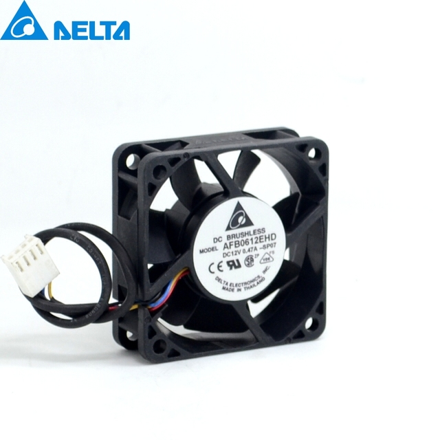 Delta New AFB0612EHD 6020 6cm 12V 0.47A double ball bearing PWM fan speed control speed for  60*60*20mm