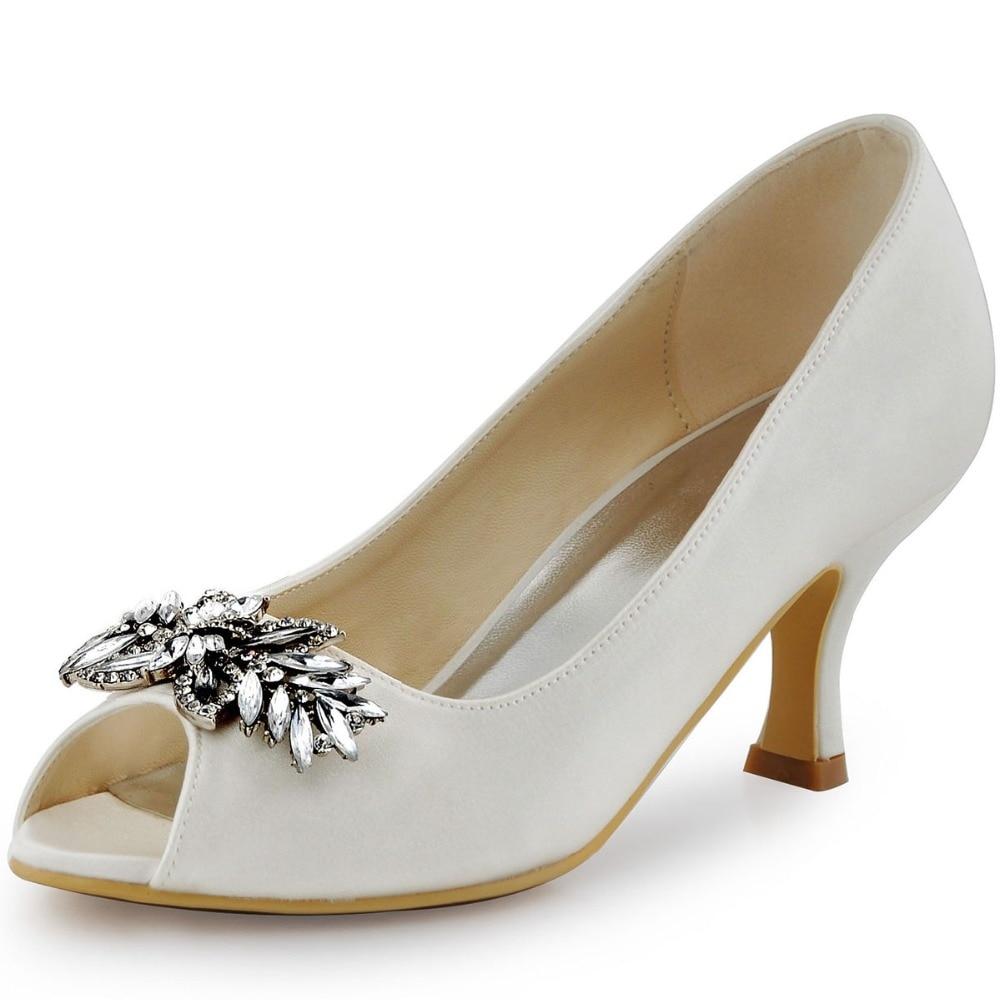 Wedding Shoes Chunky Heel