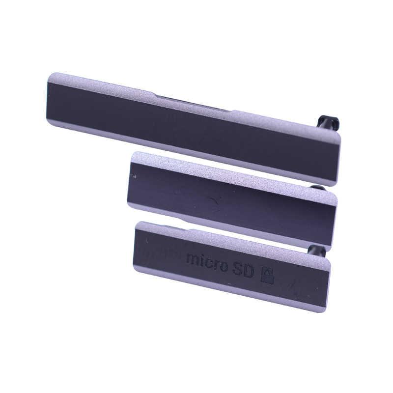 Зарядка через usb Порты и разъёмы без рисунка с защитой от пыли/микро SD Порты и разъёмы/сим-карты Порты и разъёмы слот Водонепроницаемый для sony Xperia Z1 L39H C6902 C6903