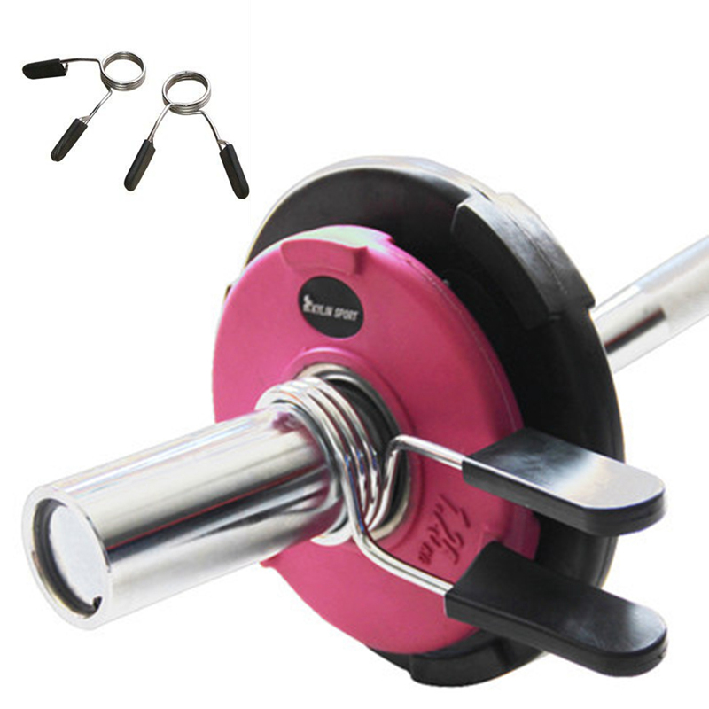 1Pair Gym Durable Spinlock Collars Barbell Dumbbell Clips Clamps Weight Bar Lock