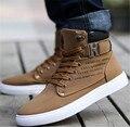 Botas de Tobillo PU botas de los hombres calientes zapatos de invierno 2016 nuevas llegadas forman