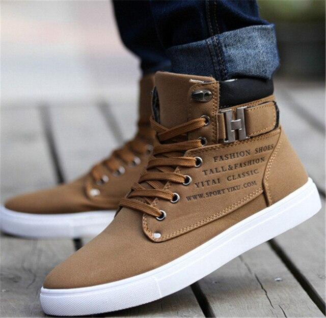 PU ботинки теплые мужчины сапоги зимняя обувь 2016 новые поступления мода