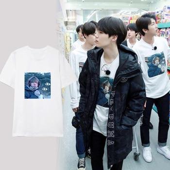 KPOP BTS T-shirt Bangtan Boys Cute V Run Tshirt Suga Jimin Tee Tops Jung Kook T Shirt Men Suga V Harajuku benfica camisola 2020