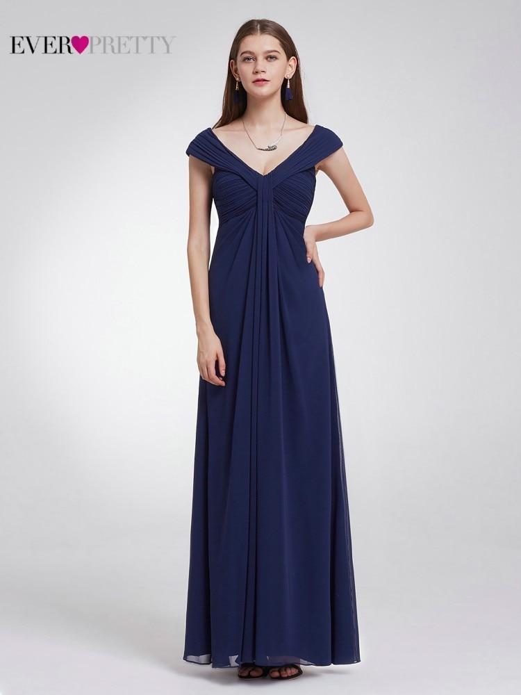 80990be8d Elegante vestidos De noche largo bonito una línea De cuello en V sin ...