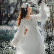 2017 Новые Дамы Длинное Платье Королевская Вышивка Пижамы Винтаж Ночная Рубашка Хлопок Пижамы Женщины Ночная Рубашка Хлопок Ночную Рубашку