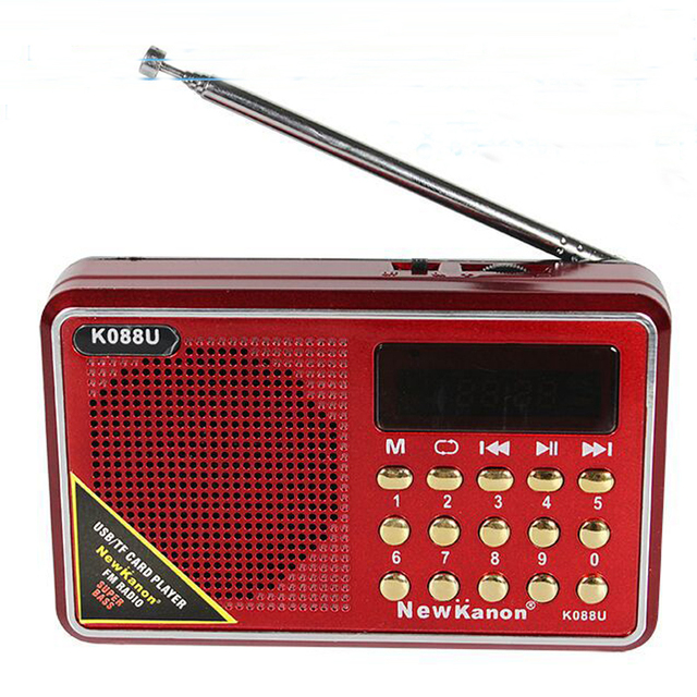 Portable Mini Radio Fm Speakers with Clock Support SD Card