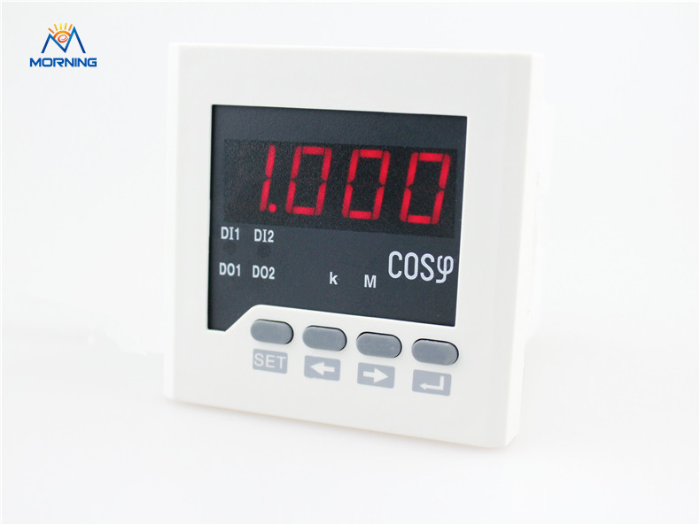 3H71 panel size 80*80mm  LED display 3 phase digital power factor meter support switch input and alarm output me 3h61 72 72mm led display 3 phase digital power factor meter support switch input and transmitting output