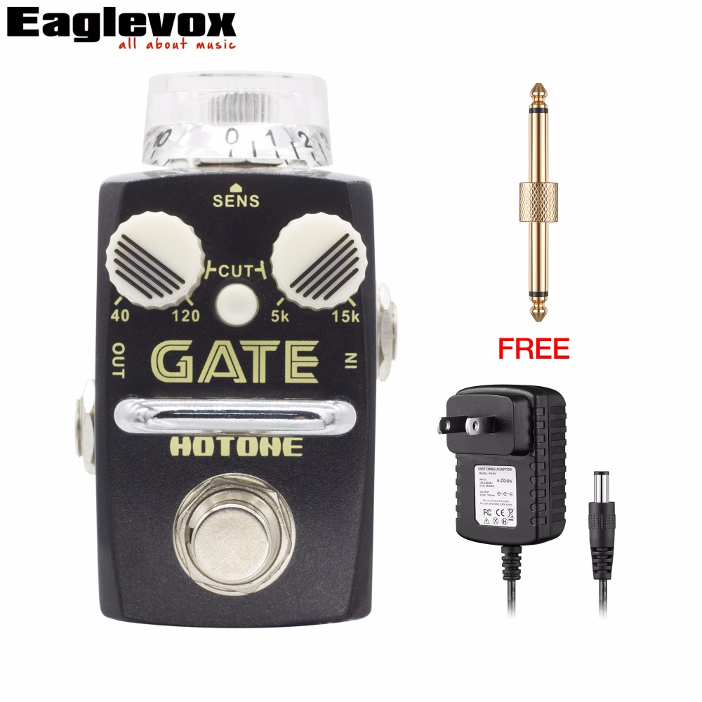 Hotone GATE Noise Reduction Electric Guitar Effect Pedal  low cut filter high cut filter with Free Power Adapter and Connector hotone brand soul press wah volume expression crybaby pedal electric guitar pedal free shipping