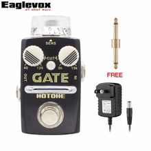 Hotone GATE Noise Reduction Electric Guitar Effect Pedal  low cut filter high cut filter with Free Power Adapter and Connector