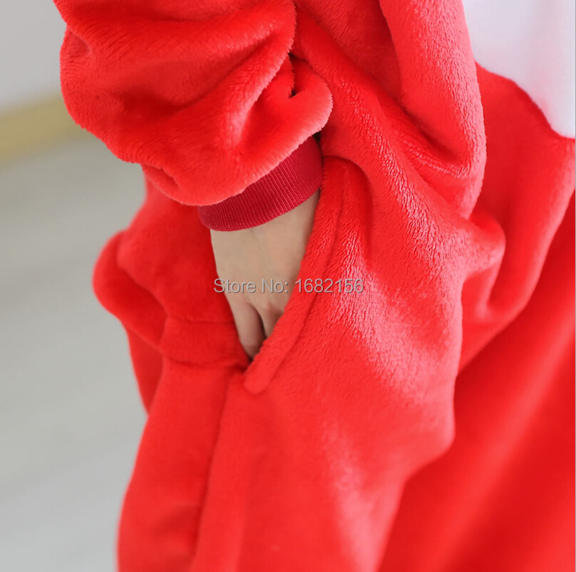 6e23093d1b Kigurumi Anime Onesie Flannel Red Ali Fox Pajamas Cosplay Costume Adult  Animal Jumpsuit Sleepwear For Party Wear-in Anime Costumes from Novelty    Special ...