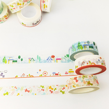 1.5cm*10M house Washi tape DIY decoration scrapbooking planner masking tape adhesive tape label sticker