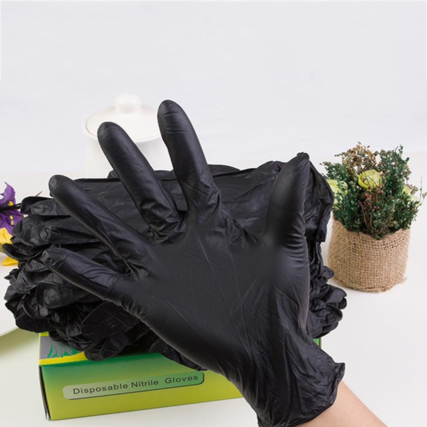 100pcs Tattoo Soft Nitrile tattoo gloves black medium for Disposable Latex Gloves Available Size Accessories Free Shipping 5