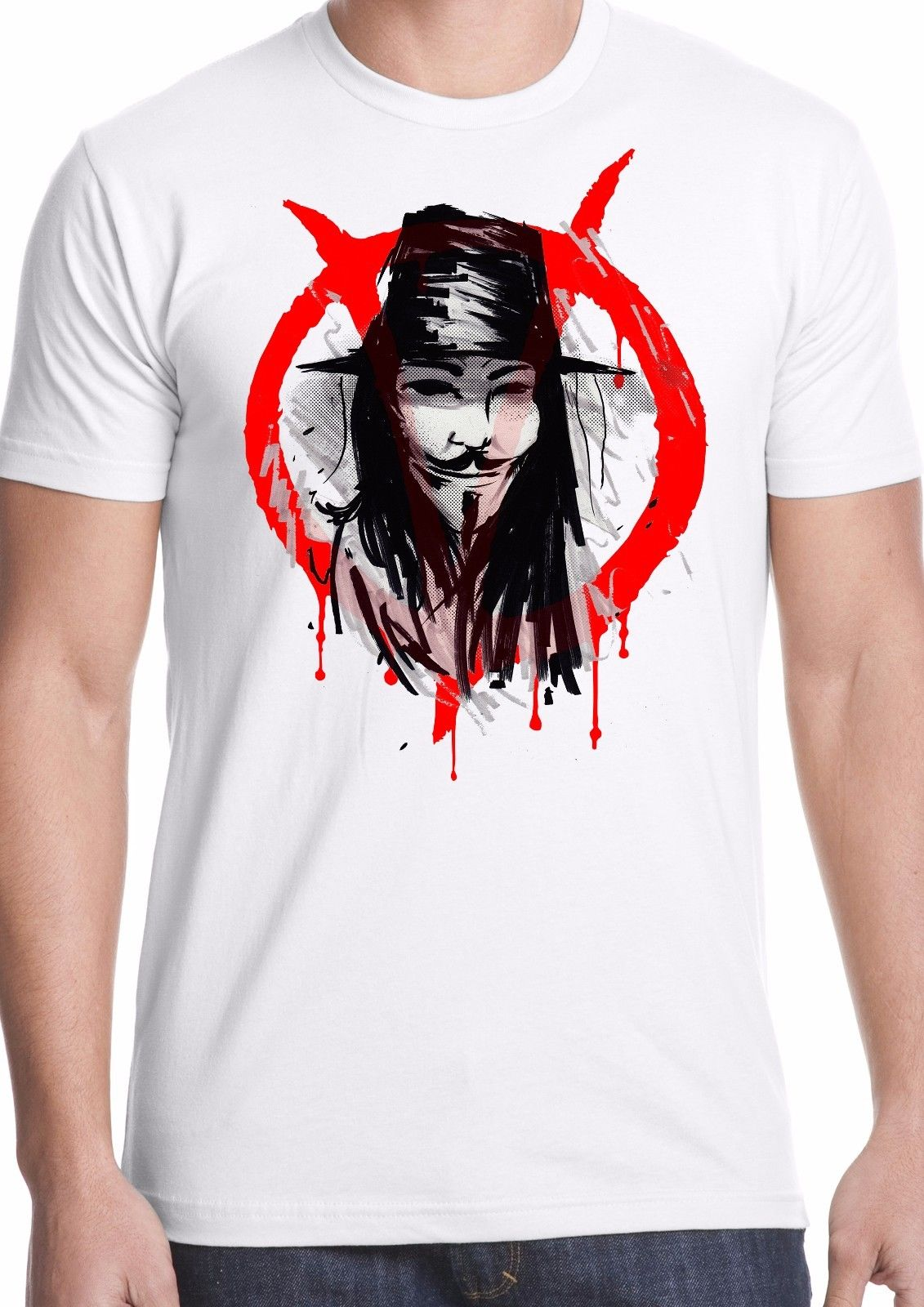 v for vendetta t shirt film cult freedom political guy fawkes Anonymous activist Cool Casual pride t shirt men Unisex New