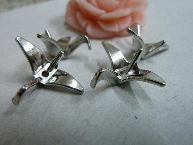 20pcs Fashion Accessories Vintage Antique Silver Origami Charm