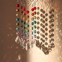 H & D Chakra Crystal Prisms Suncatcher Met Multi Achthoek Kralen Venster Opknoping Ornamenten Rainbow Maker Collection Decor  pack Van 6-in Zonnevangers voor de tuin van Huis & Tuin op