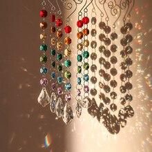 H & d chakra decoração de coleção de arco íris, enfeites de cristal com multi octogono, pendurado na janela pacote de 6