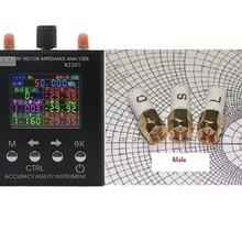 Английский verison N2201SS n2201 137,5 МГц до 2,7 ГГц антенна анализатор метр тестер+ 6 ГГц мужской SMA калибровки(открытый, короткий, нагрузки