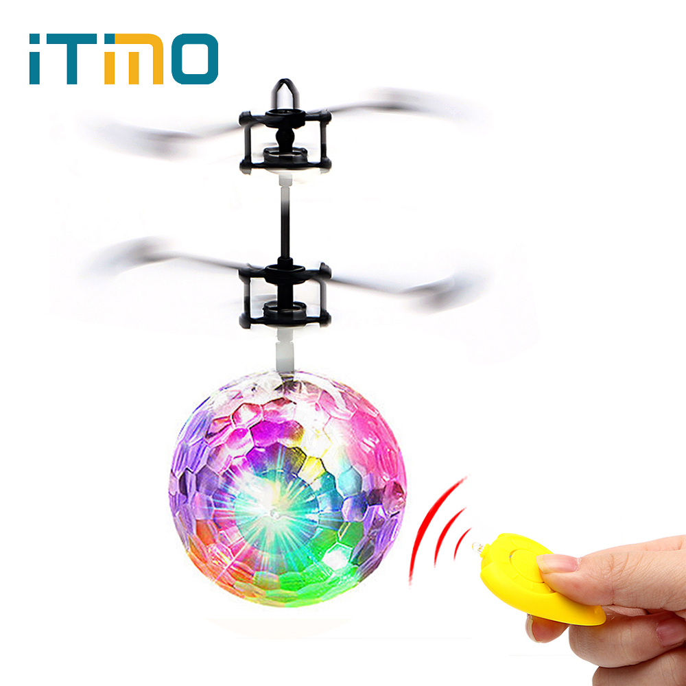 iTimo Flying Ball Luminous Lighting Mini Helicopter LED Light Lamp Novelty Lighting Remote Control Electronic Infrared Induction цена