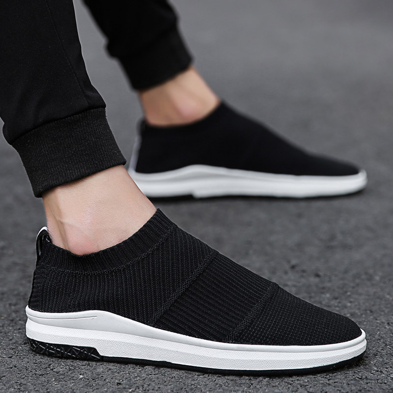 New Lightweight Male Running Shoes Breathable Cushion Sock Sneakers For Men Air Sole Shoes Damping Slip-On Sports Shoes Footwear