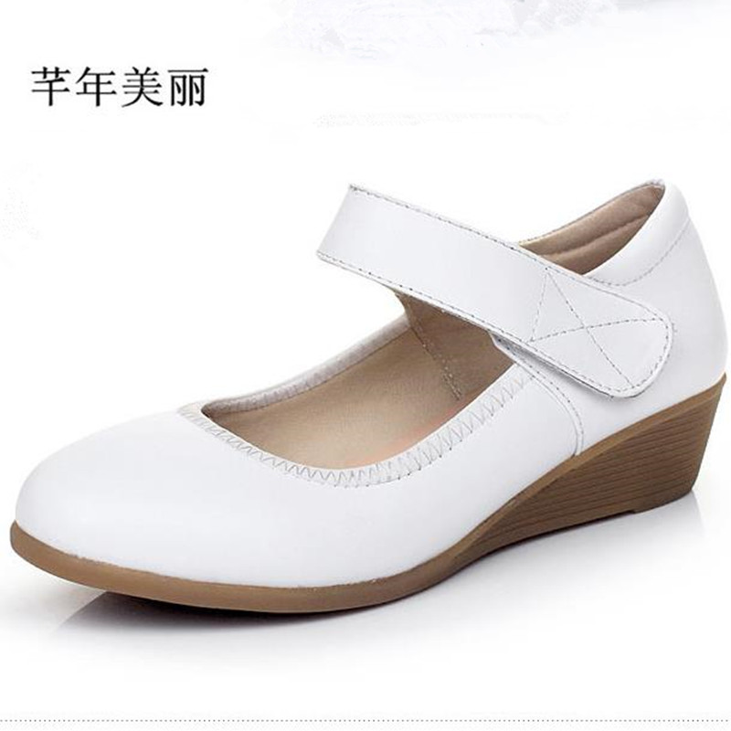 women pumps Wedges high heels genuine leather brand woman shoes size 4-10 white, black Office Shoes sapatos femininos 6pcs figurine naruto action figure anime dolls manga hokage ninjia naruto figuras sasuke gaara uchiha itachi children toys