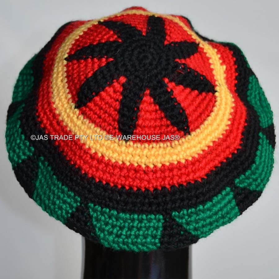 c8f7d2c7ef142 Punk Jamaica Reggae Knitted Hat Hip Hop Rasta Friendship Bob Marley Style  Fashion Beret Cap Black Yellow Red Green Colors-in Berets from Apparel  Accessories ...