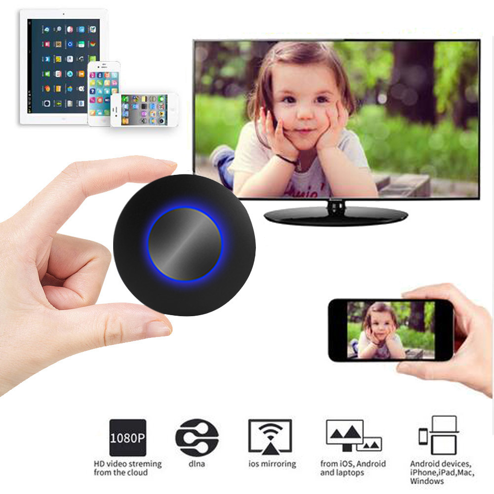 Auto Car Media DLNA Miracast Airplay Screen Mirroring TV Stick Chromecast Wireless HDMI AV RCA Video Streamer Display Dongle