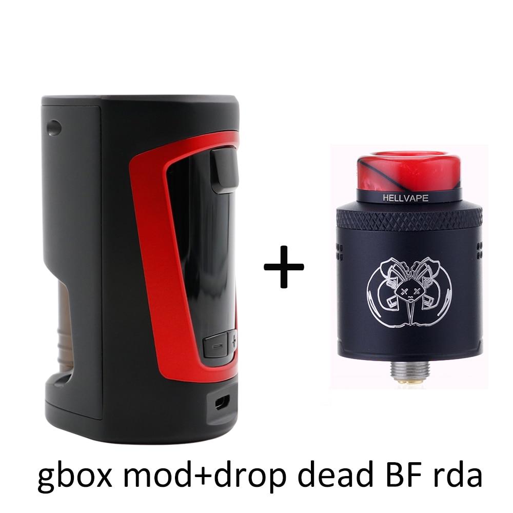 D'origine Geekvape GBOX Squonker boîte mod 200 w et 8 ml squonk bouteille avec Drop Dead BF RDA 14 flux d'air trous