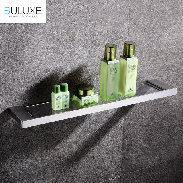 BULUXE Europäischen Einreihigen Glas Bad Regal Wand Montiert ...