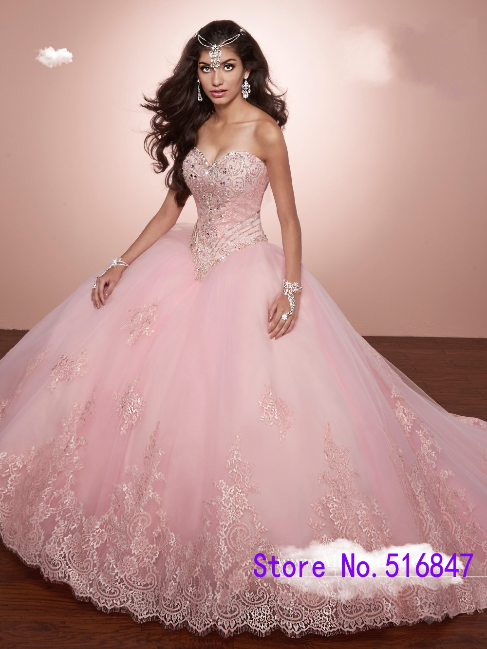 Red Roses Quinceanera Dress