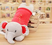 large 60cm cartoon lovely prone elephant plush toy very soft nap pillow birthday gift h2719