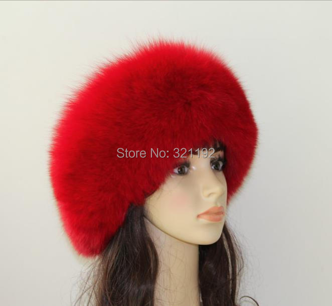 Female Male Winter Plus Size Thickening   Skullies     Beanies   Fox Fur Hats Woman Man Warm Bombers Fox Fur Caps