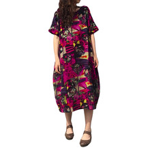 2018 New Arrival Womens Plus Size Casual Dress Tunic Italian Lagenlook  Short Sleeve Summer Fashion Tribal b76c691e396a