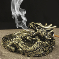 Creative Design 2015 Unique Portable Living Room Ashtray For Car Interior Home Frame Dragon Ashtray