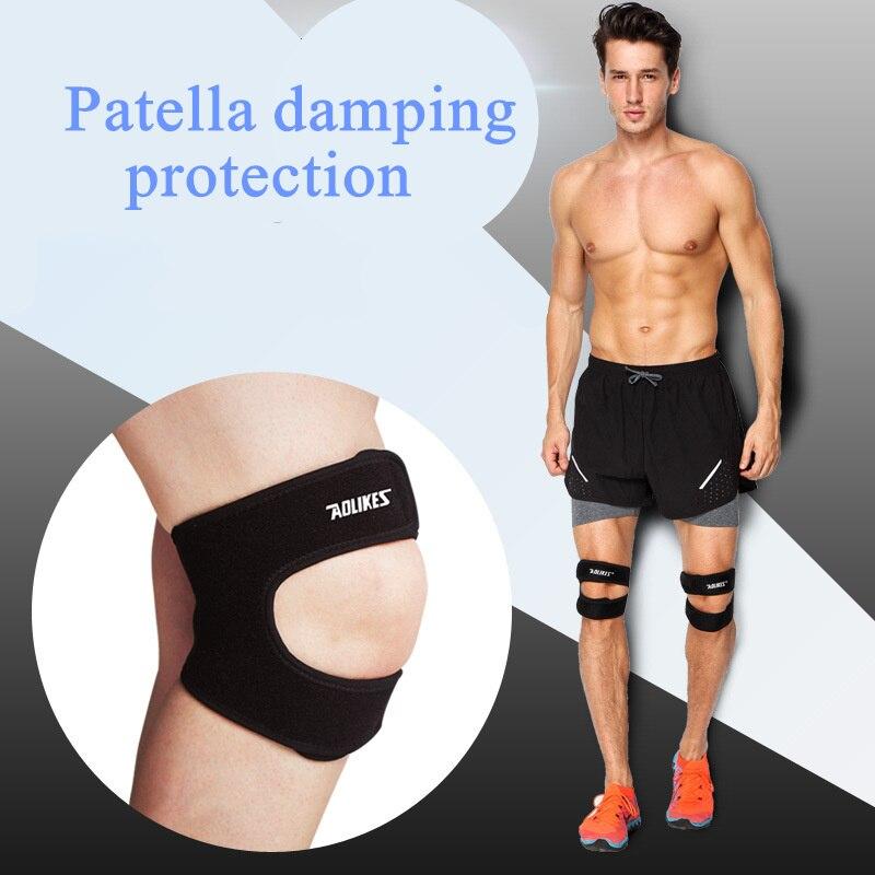 1 Pair Adjustable Patella Knee Support Brace Sleeve Wrap Breathable Running Basketball Badminton Climbing Knee Pads Leg Guard